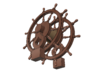 1/64 Ship's Wheel (Helm) for Frigates, Sloops, etc 3d printed Painting suggestion.