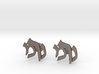 "Hebrew Monogram Cufflinks - ""Nun Mem Reish"" 3d printed"