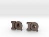 Monogram Cufflinks IQ 3d printed
