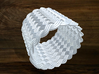 Turk's Head Knot Ring 14 Part X 19 Bight - Size 16 3d printed