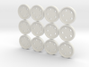 """5/8"""" five-holed buttons (dozen) 3d printed"""