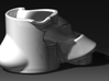 Ergonomic coffee cup by Georges-Paul  3d printed front view