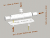 N Scale 19th Century Oil Tank Car 3d printed Use this quick diagram to aide in assembly
