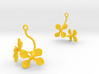 Radish earring with two large flowers 3d printed