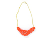 Arithmetic Necklace 3d printed Custom Dyed Nylon (Coral)
