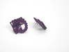 Arithmetic Earrings (Studs) 3d printed Custom Dyed Color (Midnight)