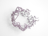 Aster Cuff 3d printed Custom Dyed Colors (Wisteria)