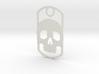 Skull dog tag 3d printed