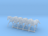S Scale Trotting Horses 3d printed This is a render not a picture