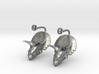 Triceratops Head earrings 3d printed