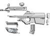 1:6 scale bullpup rifle 2 3d printed Add a caption...