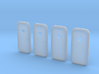 1:48 LH Watertight Doors - with porthole - 4ea 3d printed