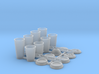 Coffee and Soda Cups in 1/12 scale 3d printed