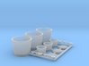 Fastfood Buckets and Cups 1/12 scale 3d printed