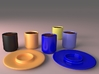 Cylindrical Espresso Cup (for Raised Stand Saucer) 3d printed
