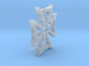 Flame Maltezer Cross 3d printed