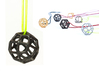 Polyhedral Jewelry: Geodesic Cube 3d printed