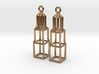 Metal Dom Earrings (Small) 3d printed