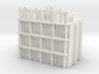 Gothic Residential Block 3d printed