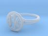 Cross Circle Ring 3d printed