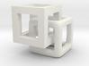 1cm cubes interlaced 3d printed