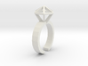 Stereodiamond Ring 3d printed