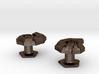 Jigsaw Nautilus Cufflinks 3d printed