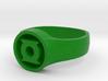 Green Lantern John Stewart Ring (Small) 3d printed
