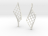 Twisted lattice girder earrings 3d printed