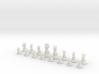 Chess Set (one player side) - Animal Kingdom 3d printed