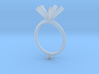 JMW4- Pentagon Engagement Ring 3D  Printed Wax . 3d printed