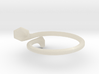Double Trumpet Ring 3d printed