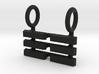 I Ching Trigram Pendant - K'un Upper 3d printed