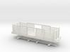 HOn30 28ft Flatcar with pulpwood rack  3d printed