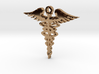 Caduceus pendant 3d printed
