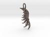 Wing Pendant : Fractal wing design in metal 3d printed