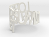 Lorem Ipsum ring 3d printed