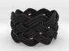 Turk's Head Knot Ring 5 Part X 8 Bight - Size 6 3d printed