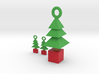 3d  Xmas Tree Pendant And Earrings 3d printed