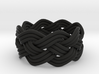 Turk's Head Knot Ring 4 Part X 8 Bight - Size 6 3d printed