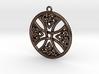 Round Celtic Cross Pendant 3d printed