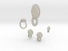 Lara Ruby Jewelry Set 3d printed
