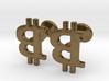 Bitcoin Cufflinks 3d printed