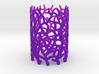 Coraline Tealight in Purple/Pink Sandstone   3d printed