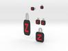Full Zorro Jewelry Set And Key Ring 3d printed