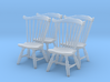 1:43 Fan Back Chairs (Set of 4) 3d printed