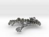 'Blossom tree' a fractal pendant 4.5cm 3d printed