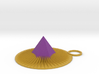 Purple Spike Pendant 3d printed