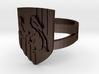 Hufflepuff Ring Size 8 3d printed