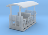 OO9 Small toastrack open coach 4w  3d printed